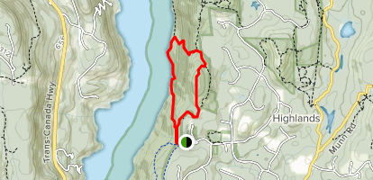 Rabbity and Ridgetop Loop Map