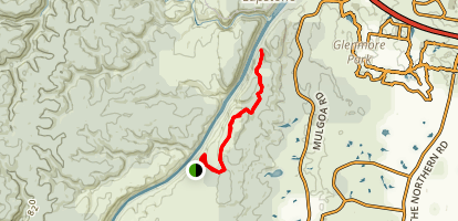 Rileys Mountain Track to Nepean Narrows Lookout Map