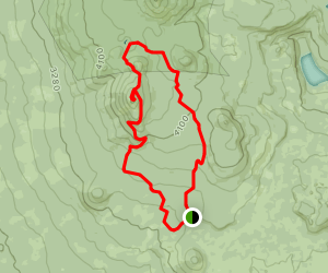 Red Mountain via Pacific Crest and Indian Race Track Loop Map