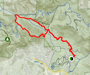 Staunton Ranch Trail to Scoutline Trail Map