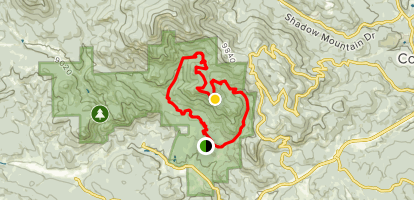 Eagle Cliffs via Mason Creek, Bear Paw, Old Mill and Staunton Ranch Trail Loop Map
