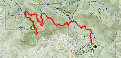 Elk Falls and Chimney Rock Trail Map