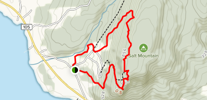 Salt Mountain and Scout Loop Map