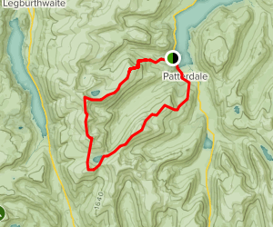 Route 1: The Greater Grisedale Horseshoe Map