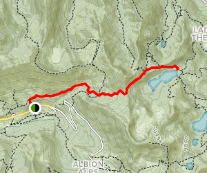 Twin Lakes Pass Trail via Davenport Hill Map