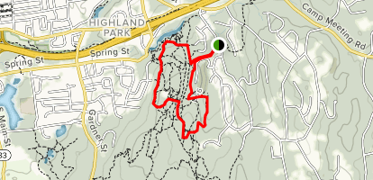 Case Mountain Trail Map on