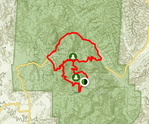 High Peaks Trail to Old Pinnacles Trail to Condor Gulch Trail Loop Map
