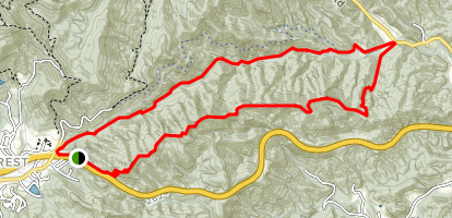 Kitsuma and Swannanoa Creek Map