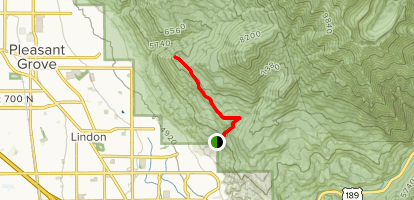 Curley Springs via Dry Canyon Trail Map