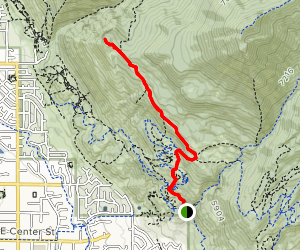 Battle Creek Lookout and Curly Springs via Bonneville Shoreline Trailhead Map