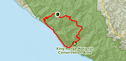 Kinsey Creek to Rattlesnake Ridge and Kings Crest Trail Map