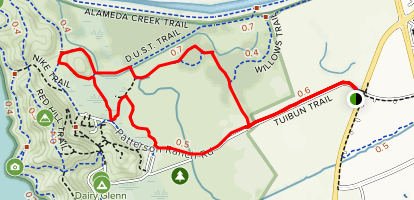 Chochenyo Trail to Tuibun Trail Loop Map