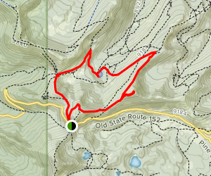 Jupiter Peak and Shadow Lake loop Map