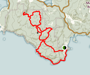 Mount Maguire, Baggington Hill, and Coastal Trail Loop Map