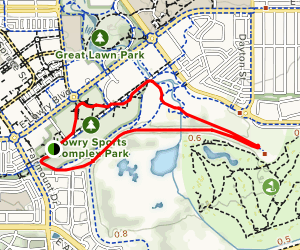Lowry Sports Park Loop Map