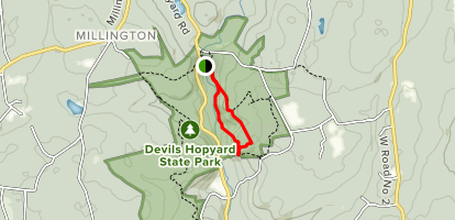 Vista Trail and Devil's Oven Loop Map