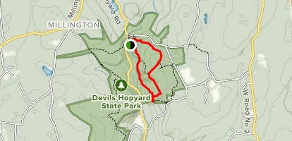 Vista and Devil's Oven via Orange Trail Loop Map
