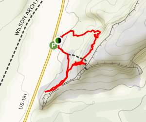 Wilson Arch Trail Map