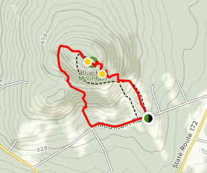 Blue Hill Mountain Loop Map