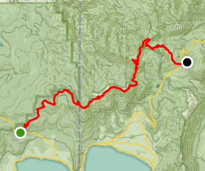Tahoe Rim Trail (TRT): Brockway Summit to Mount Rose Summit  Map