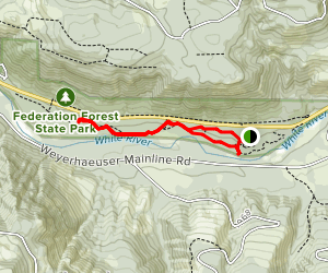 West, Old Naches, and Land of the Giants Loop Map