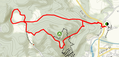 The Pogue and Mount Tom Trail Map