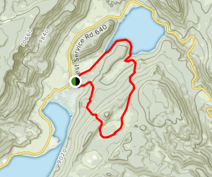 Crater Lake and Johnson Reservoir Loop Map