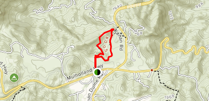 Rocky Oaks Pond Trail Map