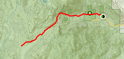 Hot Springs Valley to Charity Valley Trail  Map