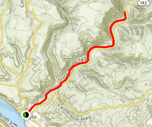 Klickitat River Trail Map