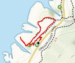 Captain Cook Trail and Thor's Well Map