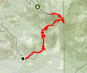 Kendrick Peak Trail Map