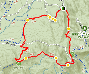 Kiwanis Trail to Las Lomitas Trail Loop Map