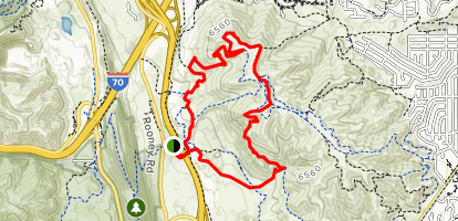 Rooney Valley Trail to Box O'Rox Trail Loop Map
