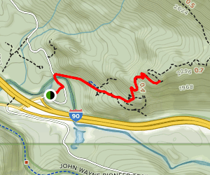 Winter Block via Birdhouse Trail Map