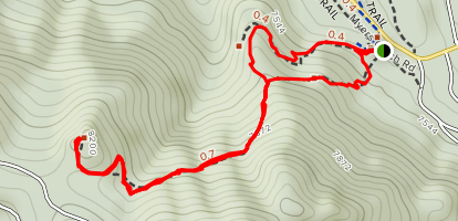 Independence Mountain Trail at Pence Park Map