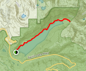 Coldwater Lake Trail Map