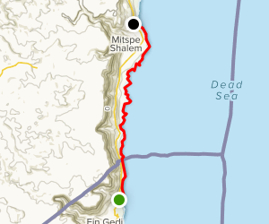 Dead Sea Coast: Ein Gedi to Metzoke Dragot Map