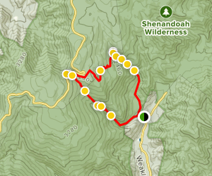 White Oak Canyon and Cedar Run Trails  Map