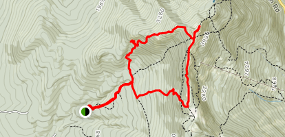 Sunset Ridge Trail and Long Trail Loop Map
