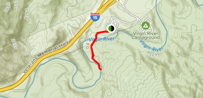 Virgin River Canyon Recreation Area Trail Map