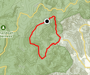 Little Devils Stairs and Piney Branch Loop Map