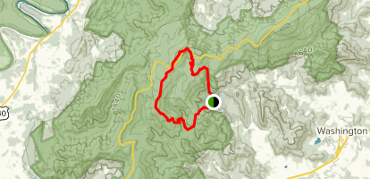 Little Devils Stairs and Piney Ridge Loop Map