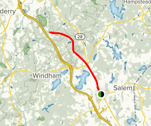 Windham Rail Trail from Main Street Map