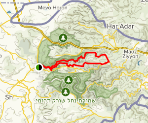 Israel National Trail and Southern Route Map
