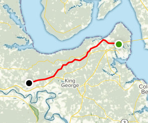 Dahlgren Railroad Heritage Trail Map