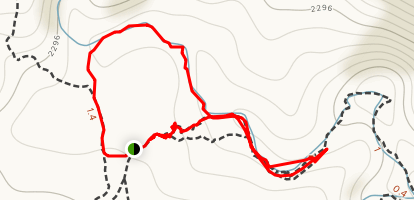 Red Canyon and Eilat Mountains Extended Loop Map