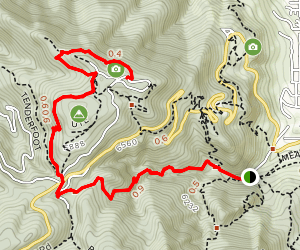 Flagstaff Mountain Summit via Gregory Canyon Map