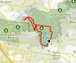 Lysterfield Loop to Lysterfield Hill Map