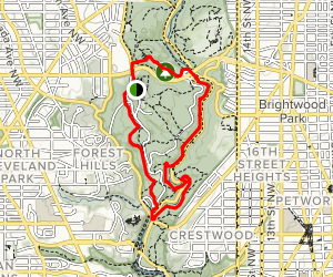 Western Ridge Trail to Valley Trail and Fort de Russy Map